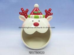 Doos van het Koekje van het Rendier van Kerstmis de Decoratieve Ceramische