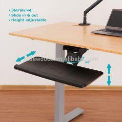 Bandeja para teclado de la perilla de ajuste, plataforma estándar con antimicrobianos Reposamuñecas de gel y precisa mouse pad,