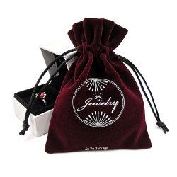 Bijoux en velours élégant populaire personnalisé un emballage cadeau Pochette Sac avec lacet de serrage