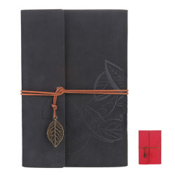 Пластинчатые PU ноутбук из натуральной кожи и подарочный набор перьев