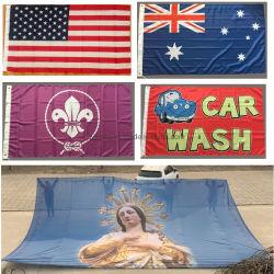 공장 공급에 의하여 개인화되는 로고 패턴 3X5 4X6 5X8 FT와 다른 큰 거대한 거대한 주문 깃발 기치