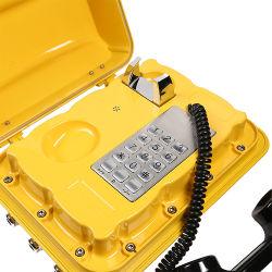 Telefono terrestre della centrale elettrica del telefono di telefono con centralino privato del sistema del telefono Emergency del telefono del supporto impermeabile marino stabilito industriale della parete