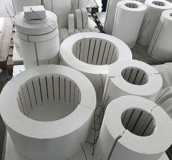 Лабораторные печи короткого замыкания модуль трубки обогрева глинозема керамические волокна трубопровода