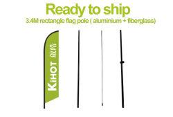Vorbereiten, um zu versenden! 3.4m Feder-Markierungsfahne Pole (Aluminium + Fiberglas)