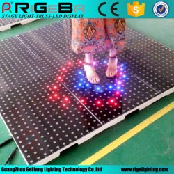 Disco LED interattivo pista da ballo digitale/video interattivo pista da ballo LED Piastrelle da pavimento illuminate per matrimoni e feste