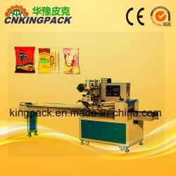 De automatische het Vullen van de Machine van het Pak van de Stroom van het Voedsel van de Snack van het Suikergoed van het Koekje van het Brood van de Chocolade van de Machine van het Pak van het Hoofdkussen Horizontale het Afdekken Verzegelende Machines van de Etikettering