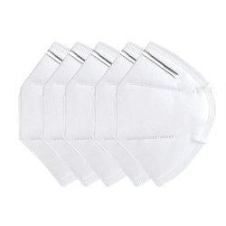 La pollution de protection civile noir lavable contour de la poussière respirateur jetable 3ply FFP2 N 95 N95 KN95 masque facial
