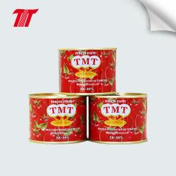 Tmt 상표를 가진 빨간색 풀 주석 토마토 페이스트