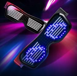 Pilha recarregável de publicidade Festival de Música Piscando luz néon até EL parte óculos LED inteligente