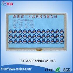 """Ecrã TFT a cores de 5,0"""" 480x272 LCD DOTS LCM Ecrã Táctil com IC1963 SSD"""