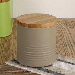 Insieme rotondo del contenitore del carrello del metallo della grande di formato dei vasi di memoria del cereale del tè del caffè del coperchio scatola metallica di legno del ferro