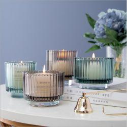 Venda por grosso grande quantidade de vidro colorido suporte para velas para decoração