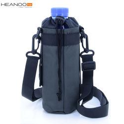 Support durable de bouteille d'eau de transporteur avec la courroie d'épaule grande pour les bouteilles en plastique en verre d'acier inoxydable