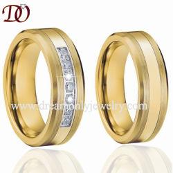 Верхней Части продажи золотого кольца из карбида вольфрама с 7 CZ золото моды кольцо