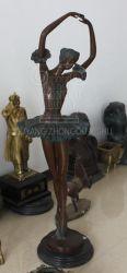 Figura estátua de bronze feminino dancer Decoração
