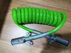 De op zwaar werk berekende Bedrading van de Kabel van de Aanhangwagen van de Kabel van de Macht van de Draad van de Elektriciteit van de Aanhangwagen van de Vrachtwagen van 7 Speld Groene Zwarte Spiraalvormige