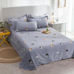 Tessuto di cotone poco costoso stabilito di prezzi dello strato lussuoso per la tela di base piena della stampa grigia del cane
