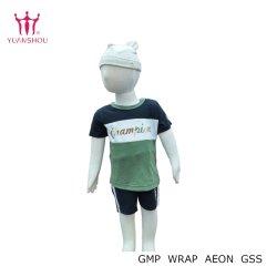 Personalizar el niño/niña/niño/niños/bebés/niños/Bebe Sudaderas tejidos de algodón cuello redondo manga corta polo camisetas impresas de la marca del grupo