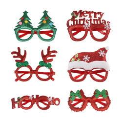 Decoração de Natal da estrutura óculos presente de Natal Óculos cintilante cg-1001