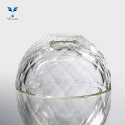 Tonalità di lampada di vetro dei lampadari a bracci della radura a cristallo contemporanea decorativa del coperchio