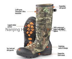 Exterior impermeable y transpirable de combate del Ejército de senderismo vulcanizado desierto militares hechos a mano la caza de caucho botas para hombres
