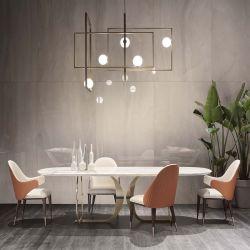 Home Caso Mobiliário Dining Hall Lounge sala de lazer do metal cadeira e mesa quadrada