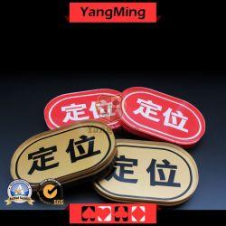 المقامرة لعبة البوكر الجدول تاجر أرض علامة من المصنع مورد الذهب زر العلامة التجارية لDiscard في شاشة الحرير بيضاوية لتحديد موضع العلامة التجارية