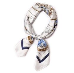 Custom 70*70cm Print Women Square Silk Sjaal voor haar