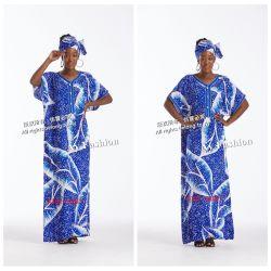 Impressão africana mulheres Maxi vestido de venda quente Fashion mulheres vestido de beiral infinito