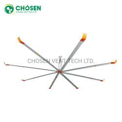 4.9M 8 lâminas em ligas de alumínio para a indústria do depósito Motor AC de Exaustão Grande Hvls ventilador de teto