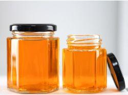 100ml 500ml 작은 육각형 밀폐 유리 주방 음식 Lid가 포함된 저장 공간 Candy Jar 용기