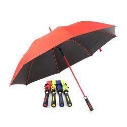 컬러 스트레이트 자동 오픈 유리섬유 골프 우산