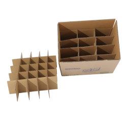 Moviendo el envío de correo de cartón ondulado caja de cartón de embalaje con insertos de los divisores de partición