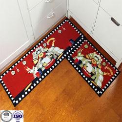 Küche-Teppich-Fußmatte-Küche-Badezimmer-Nylonvierecks-Wolldecke-rote Wolldecke-Tür-Matten-Wolldecke für Innenim Freien
