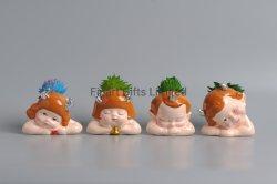 Forma de bebé adorable Bote de cerámica con suculentos Decoracion