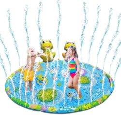 水演劇のパッドのおもちゃの子供の子供のための膨脹可能なカエルのスプリンクラーのしぶきのマット