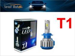 مجموعة المصباح الأمامي T1 H4 Turbo LED بقدرة 50واط 6000 لومن H1 H3 H7 H8 H9 H11 Hb3 Hb4 ضوء لمبة LED مرح طقم إدارة ضوء الضباب لامبافارول بومبيللو LED Focos LED سيارة Kit