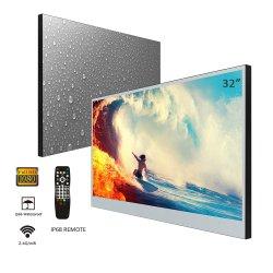 Montage mural de 42 pouces moniteur TV LED Android Piscine douche la preuve de l'eau de l'intérieur de la télévision (noir/miroir)