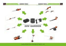 Bateria de íon de lítio Cordless Hand Held Jardim Motosserra Power Tool