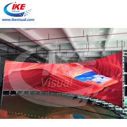 ショッピングモールの曲げられた正面LEDピクセルスクリーンのために曲がる適用範囲が広いのボードを広告するLED