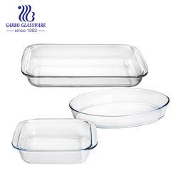طبق الصحن الطري المقطّر مع طبق الصحن الزجاجي Pyrex مع الزاوي وSquare&Round تشكيل حزمة شفافة PVC