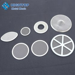 10 Mícron Ss 304 316 316L tela de aço inoxidável pano de malha de disco de filtro para máquina de papel