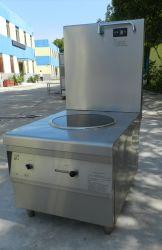Appareil de cuisine avec cuisinière induction double benne acier inoxydable