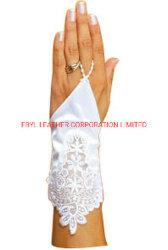 Guantes de boda clásicos sin dedos con decoración con encaje (JYG-29310)