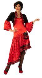 De rode Zwarte Spaanse Avondjurk van de Danser van de Kleding van Halloween van het Kostuum van het Kostuum van de Dans