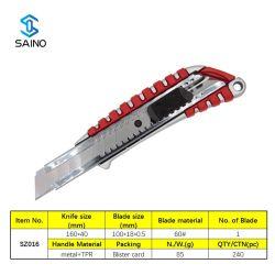 Cuchilla con hoja retráctil y mango ABS para uso intensivo SZ016