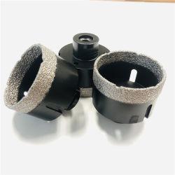 65mm de cerámica de porcelana de núcleo Diamante Brocas de Soldado de vacío de bits para el azulejo
