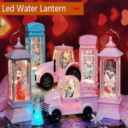 Cabina telefonica illuminata con glitter e regalo di Natale con musica per GC-LW-0044