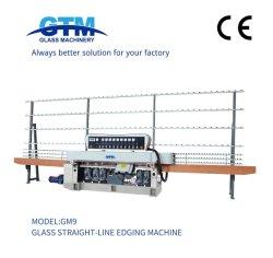 GTM 고품질 9스핀들 유리 직선 가장자리 가장자리 가장자리 가장자리 정리 연마 기계