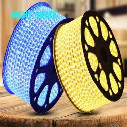 RGB coloridos AC 50metros de un rollo SMD 5050 de la cuerda de retroiluminación LED 60d/Decoración TIRA tira LED Bombilla